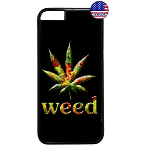 Weed Leaf Marihuana Smoking Pot Rubber Case Cover For Iphone