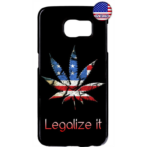 USA Flag Legalize Weed Marijuana Pot Rubber Case Cover For Samsung Galaxy