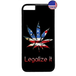 USA Flag Legalize Weed Marijuana Pot Rubber Case Cover For Iphone