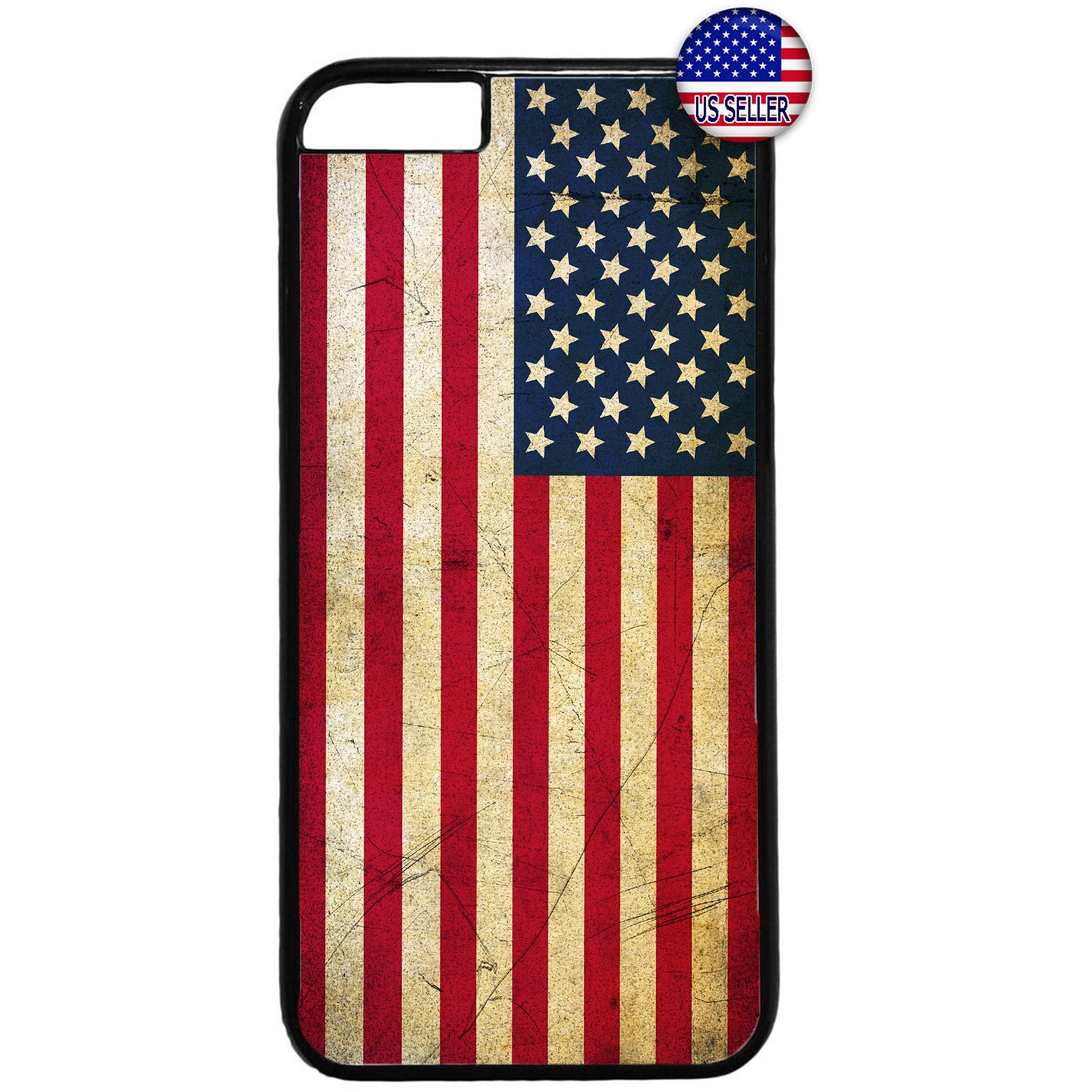 USA Flag Grunge Stars & Stripes United States Rubber Case Cover For Iphone