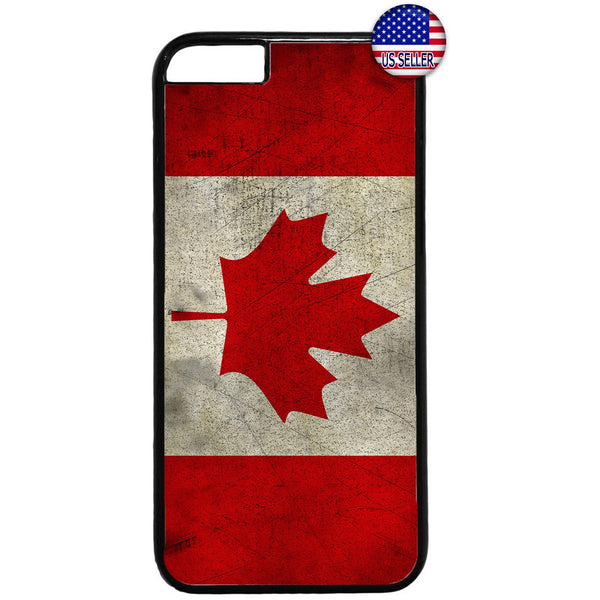 Canadian Flag Maple Leaf Canada Hockey Rubber Case Cover For Iphone