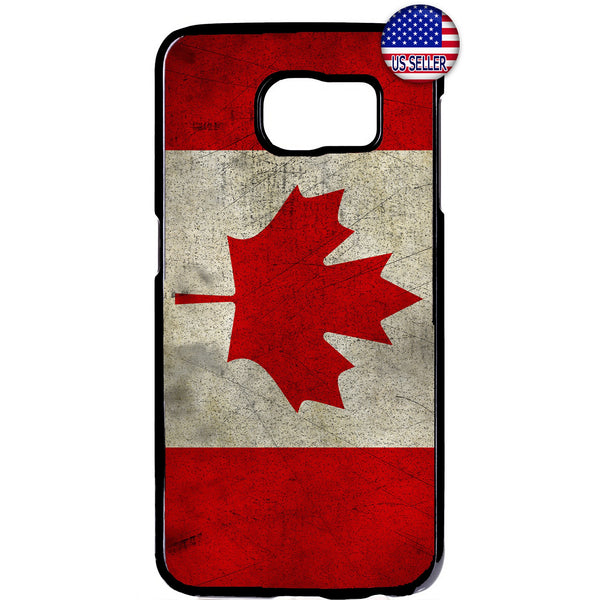 Canadian Flag Maple Leaf Canada Hockey Rubber Case Cover For Samsung Galaxy