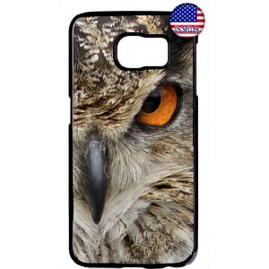 Owl Eye Bird Animal Night Creature Rubber Case Cover For Samsung Galaxy Note