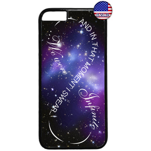 Galaxy Nebula We Were Infinite Love Rubber Case Cover For Iphone