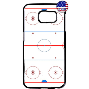 Ice Hockey Ring Sports Puck Skating Rubber Case Cover For Samsung Galaxy