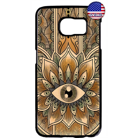 Gold Mandala Evil Eye Hipster Rubber Case Cover For Samsung Galaxy
