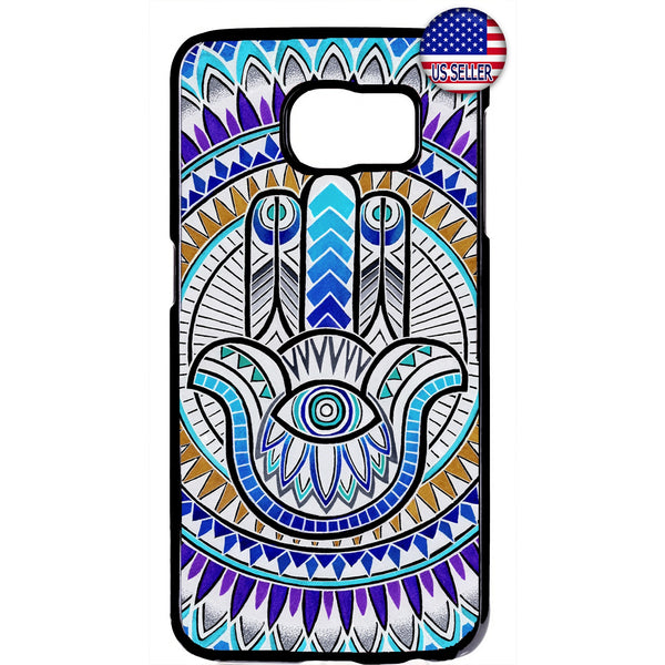 Mandala Floral Evil Eye Hipster Rubber Case Cover For Samsung Galaxy