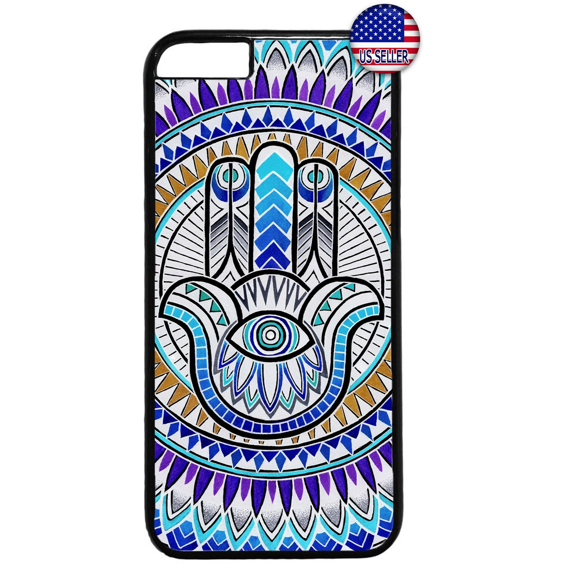 Mandala Floral Evil Eye Hipster Rubber Case Cover For Iphone