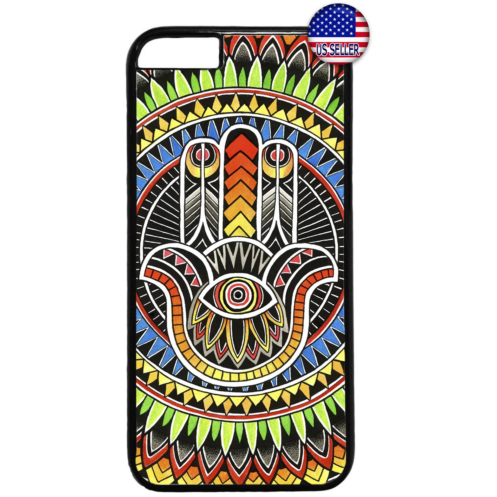 Mandala Evil Eye Henna Hipster Rubber Case Cover For Iphone
