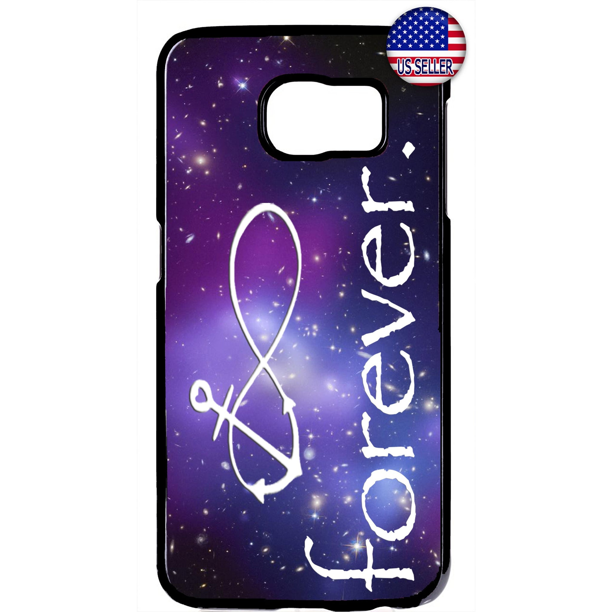 Infinite Love Anchor Galaxy Nebula Rubber Case Cover For Samsung Galaxy