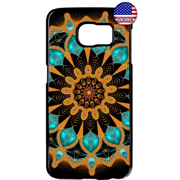 Mandala Lotus Beautiful Henna Rubber Case Cover For Samsung Galaxy