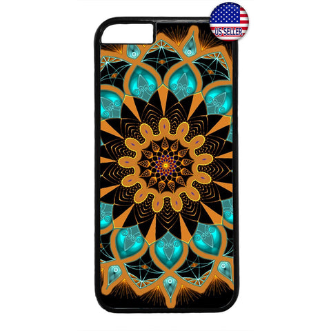 Mandala Lotus Beautiful Henna Rubber Case Cover For Iphone