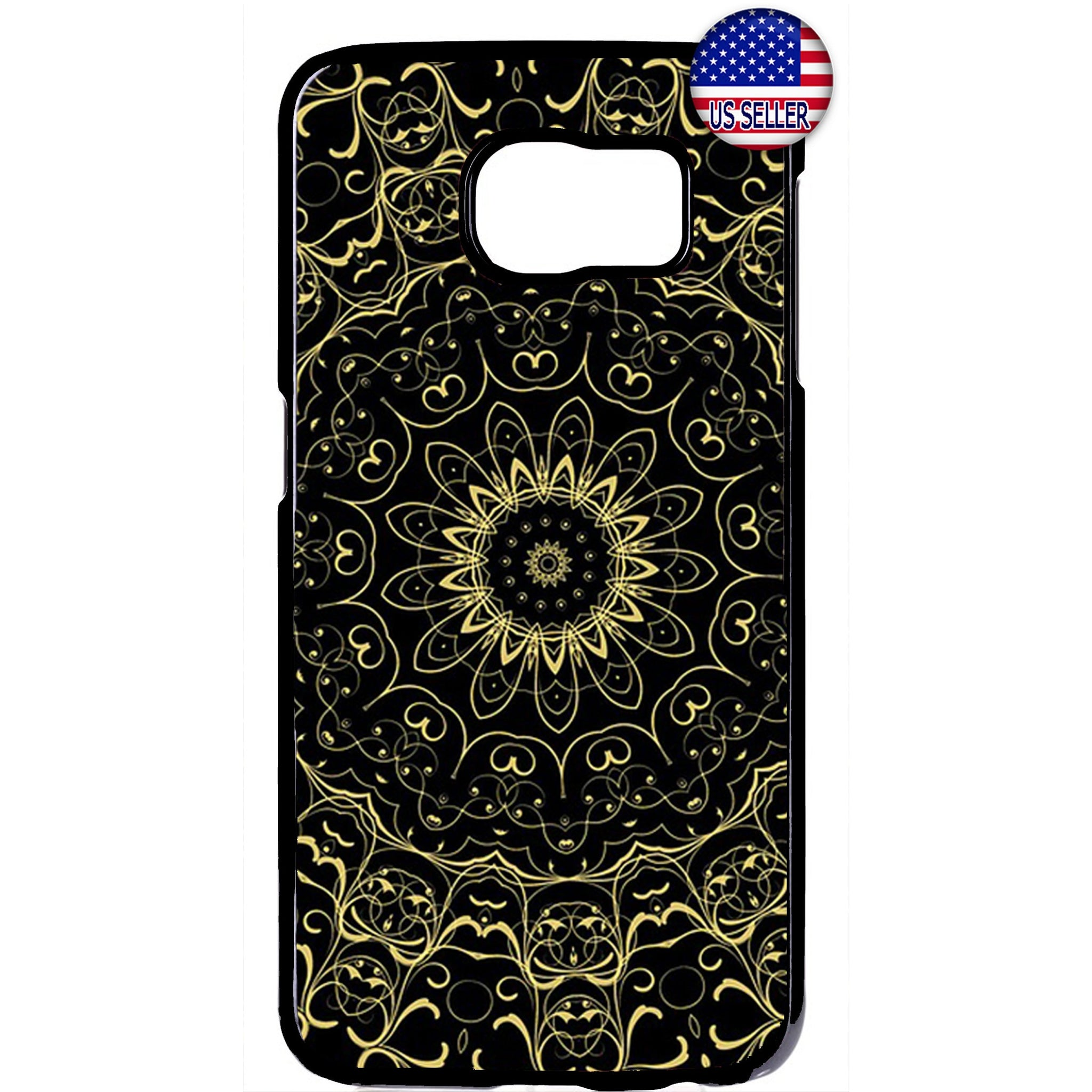 Hipster mandala Floral Lotus Rubber Case Cover For Samsung Galaxy