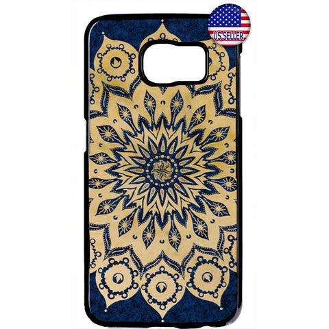 Lotus Mandala Hipster Beautiful Henna Rubber Case Cover For Samsung Galaxy