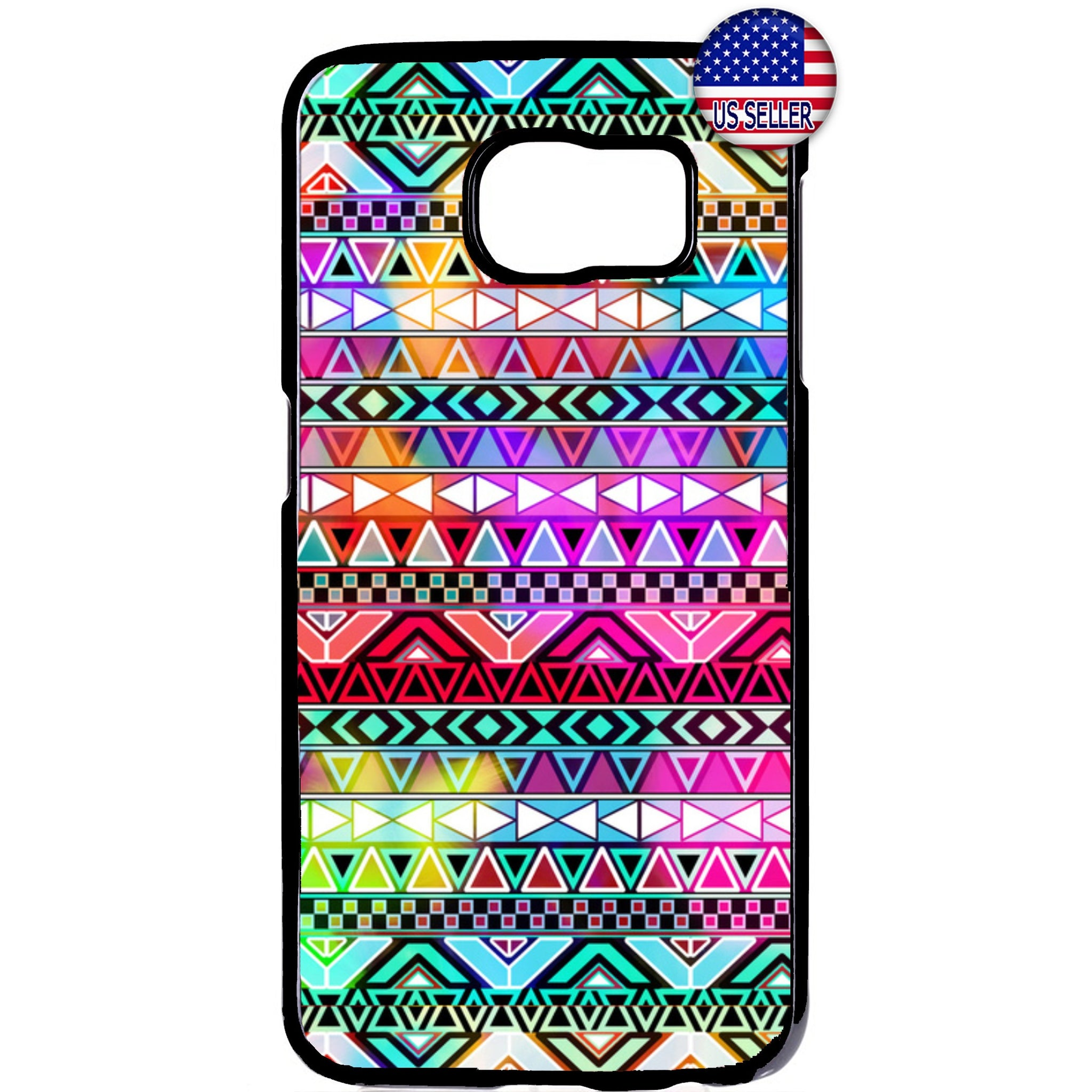Aztec Colorful Neon Maya Geometric Rubber Case Cover For Samsung Galaxy Note