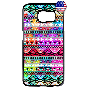 Aztec Colorful Neon Maya Geometric Rubber Case Cover For Samsung Galaxy