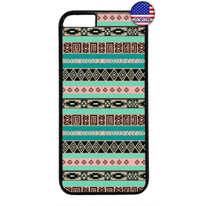 Retro Aztec Maya Tribal Native Geometric Rubber Case Cover For Iphone