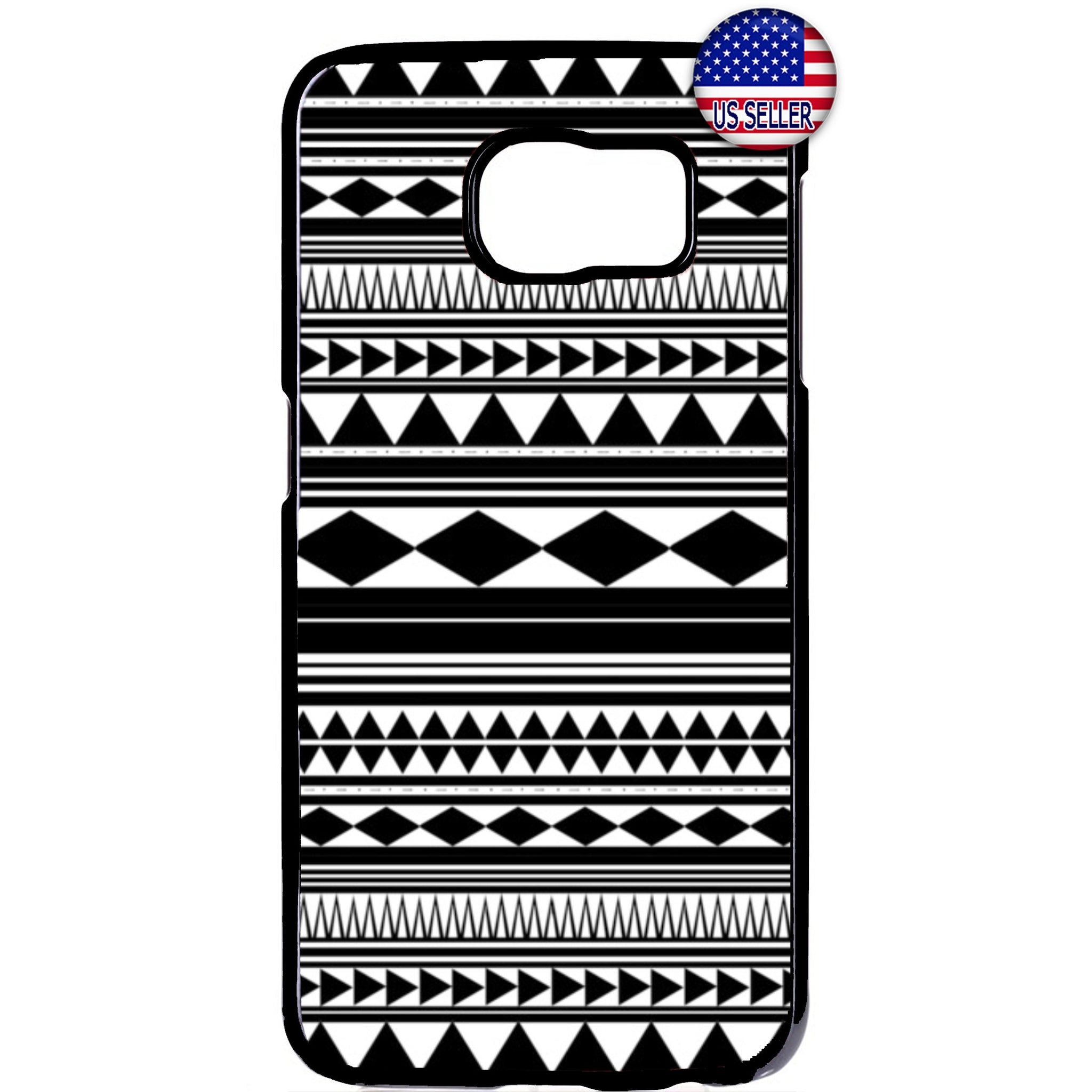 Monochrome Geometric Aztec Maya Rubber Case Cover For Samsung Galaxy Note
