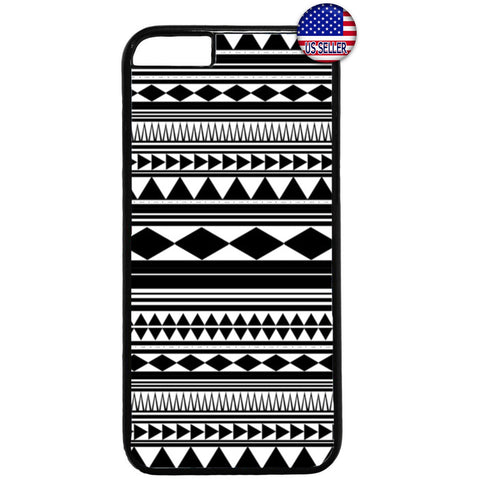 Monochrome Geometric Aztec Maya Rubber Case Cover For Iphone