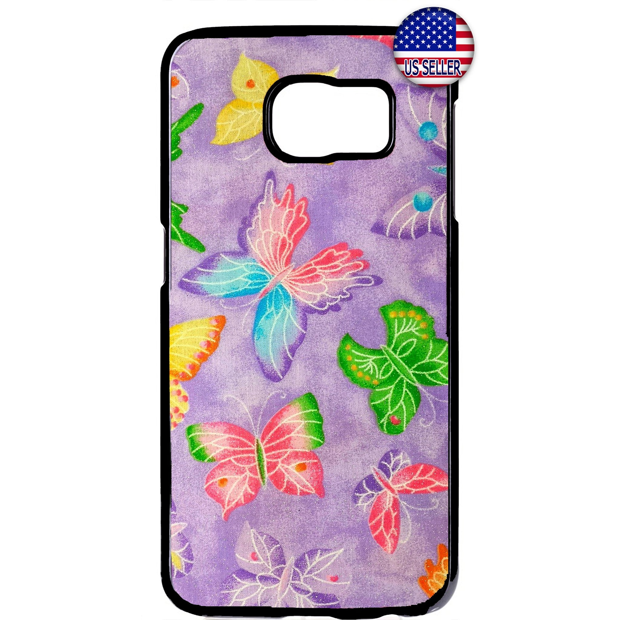 Beautiful Lilac Butterflies Design Rubber Case Cover For Samsung Galaxy