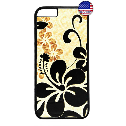 Black Floral Henna Flower Garden Rubber Case Cover For Iphone