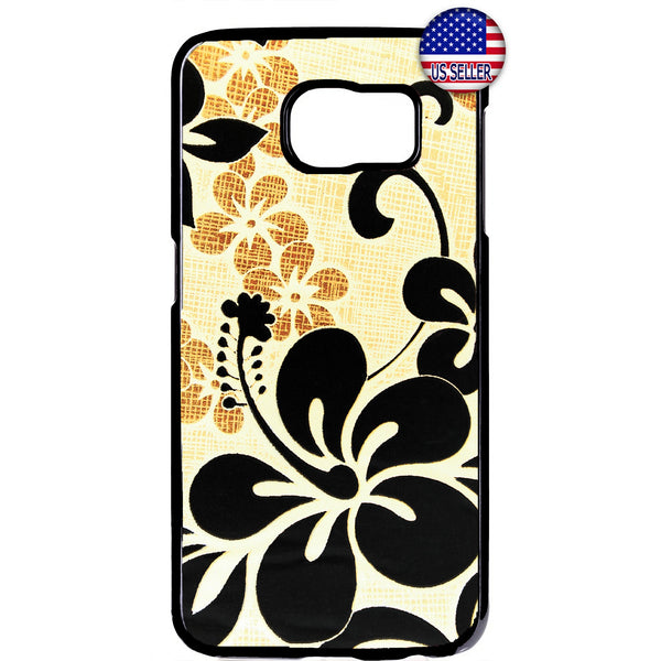 Black Floral Henna Flower Garden Rubber Case Cover For Samsung Galaxy