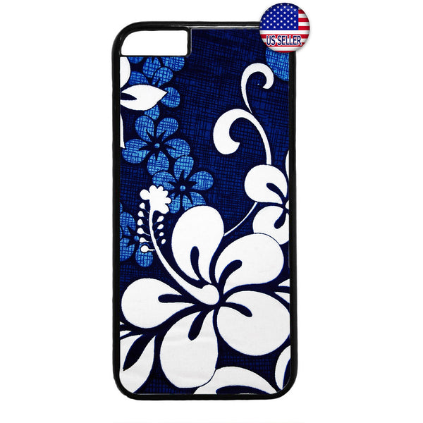 Blue Floral Henna Flower Garden Rubber Case Cover For Iphone
