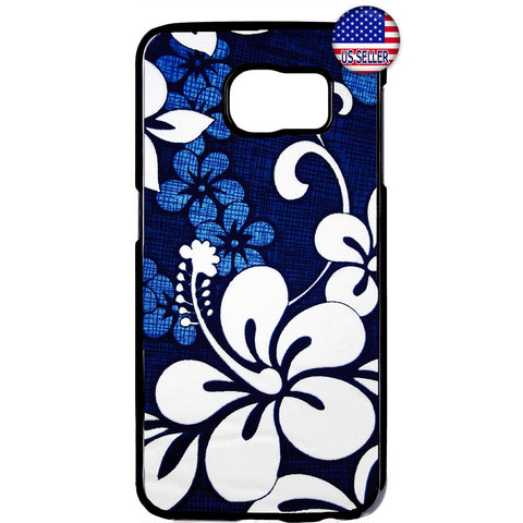Blue Floral Henna Flower Garden Rubber Case Cover For Samsung Galaxy