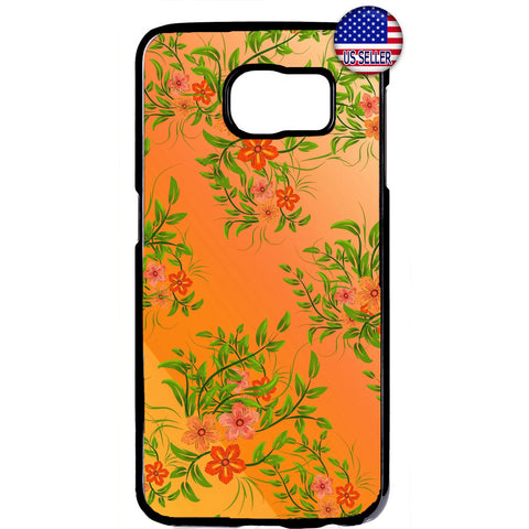 Summer Tropical Flowers Garden Rubber Case Cover For Samsung Galaxy