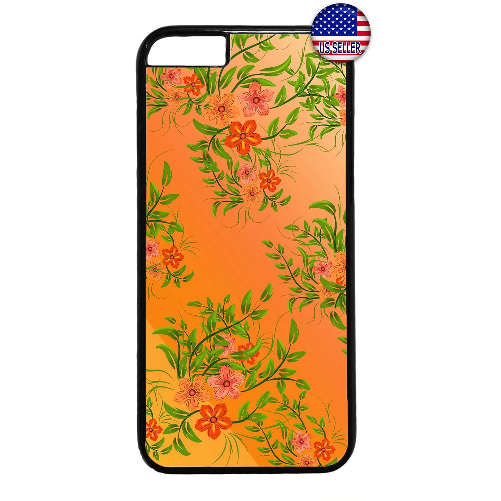 Summer Tropical Flowers Garden Rubber Case Cover For Iphone