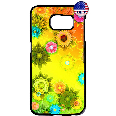 Sunflowers Colorful Art Garden Rubber Case Cover For Samsung Galaxy