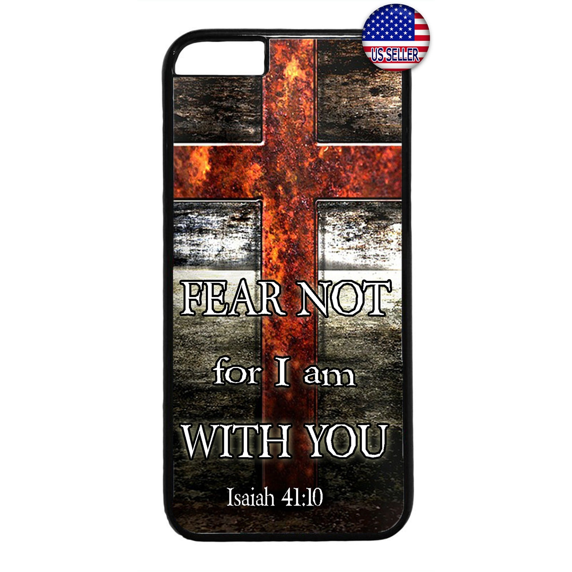 Christian Cross With Bible Verse Rubber Case Cover For Iphone