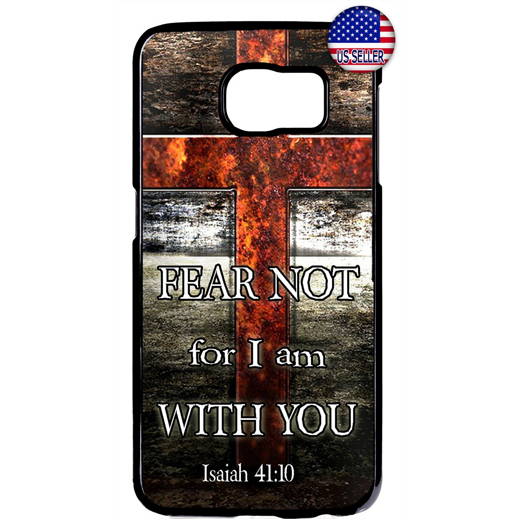 Christian Cross With Bible Verse Rubber Case Cover For Samsung Galaxy