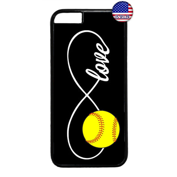 Infinite Forever Love Softball Sports Rubber Case Cover For Iphone