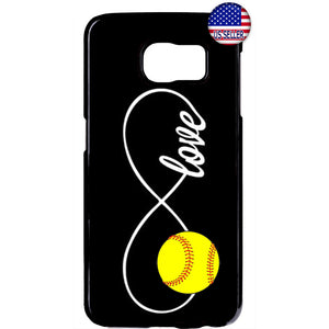 Infinite Forever Love Softball Sports Rubber Case Cover For Samsung Galaxy Note