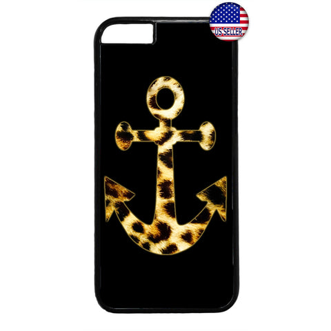 Leopard Anchor Fur Cat Wild Animal Print Rubber Case Cover For Iphone