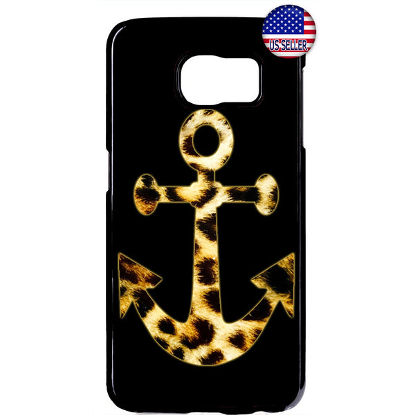 Leopard Anchor Fur Cat Wild Animal Print Rubber Case Cover For Samsung Galaxy