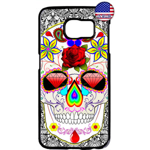 Sugar Skull Mexican Art Dia De Los Muertos Rubber Case Cover For Samsung Galaxy