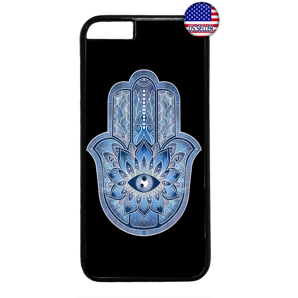 Blue Hamsa Evil Eye Guard Rubber Case Cover For Iphone