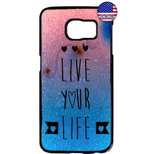 Summer Sun Live Your Life Beach Day Rubber Case Cover For Samsung Galaxy