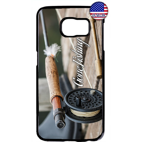 Fishing Bass Fish Rod Rubber Case Cover For Samsung Galaxy