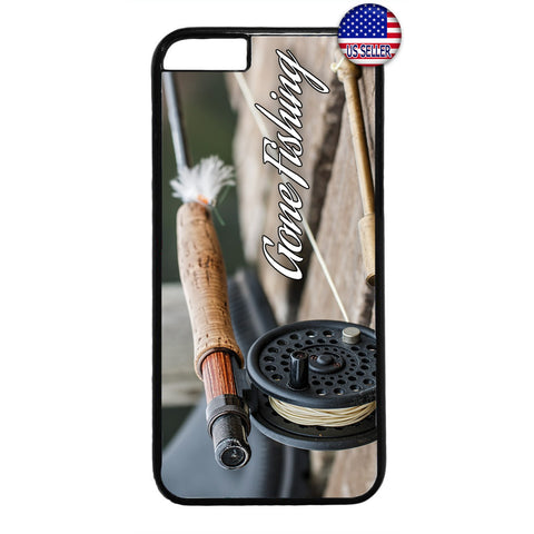Fishing Bass Fish Rod Rubber Case Cover For Iphone