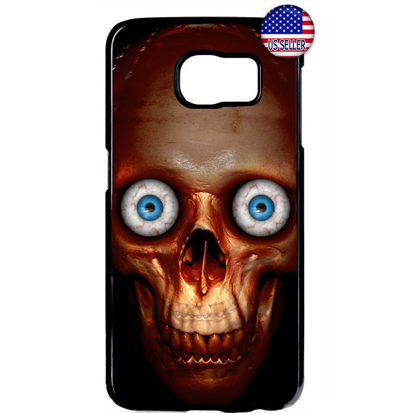 Creepy Skull Face Eyes Rubber Case Cover For Samsung Galaxy Note