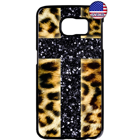 Leopard Christian Cross Jesus Christ Rubber Case Cover For Samsung Galaxy
