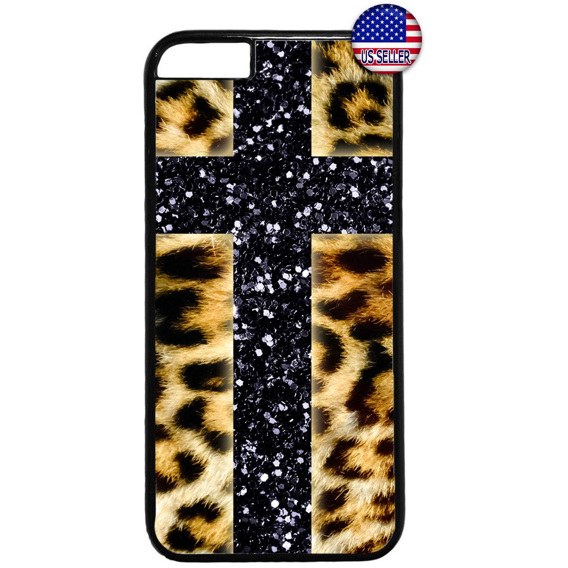 Leopard Christian Cross Jesus Christ Rubber Case Cover For Iphone