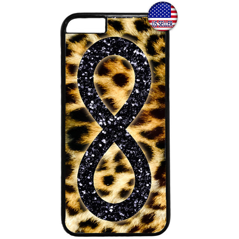 Leopard Infinite Forever Glitter Rubber Case Cover For Iphone