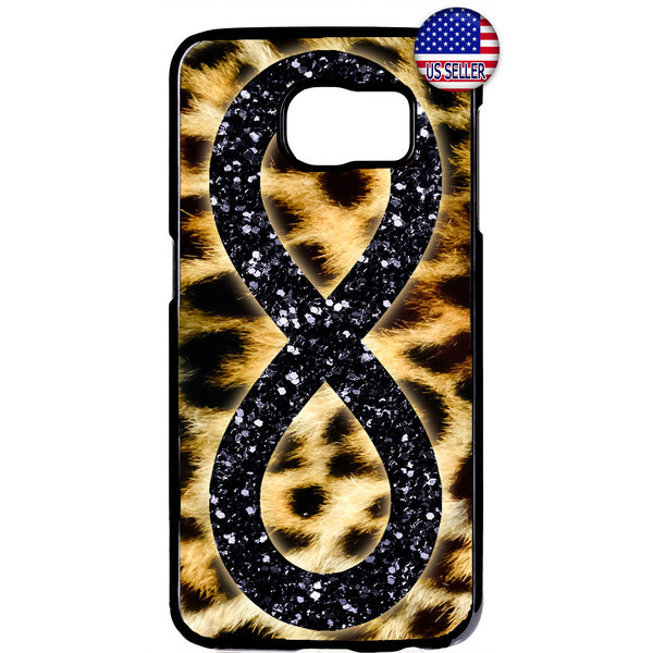 Leopard Infinite Forever Glitter Rubber Case Cover For Samsung Galaxy