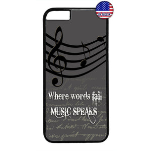 Words Fail Music Speaks Rubber Case Cover For Iphone