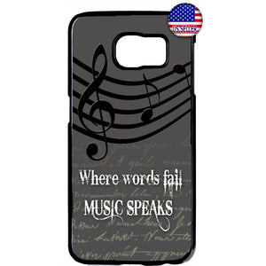 Words Fail Music Speaks Rubber Case Cover For Samsung Galaxy Note
