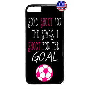 Pink Soccer Girl Futbol Sports Rubber Case Cover For Iphone